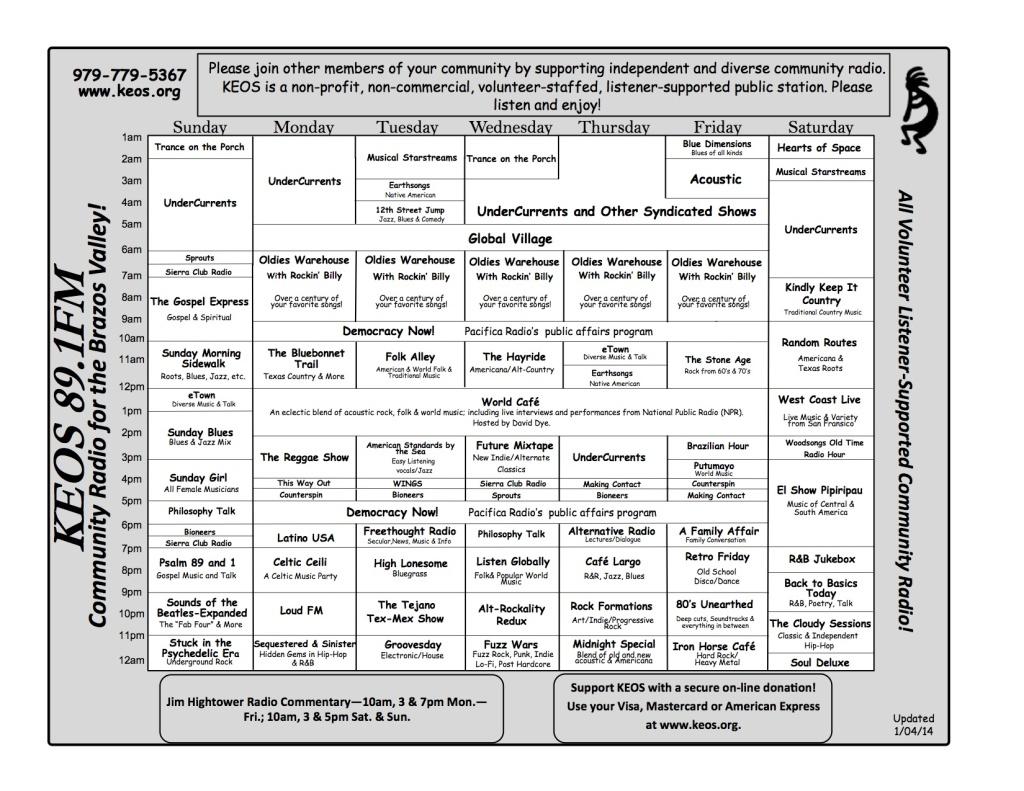 KEOS Schedule